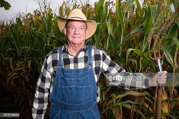 hoosier farmer and pitchfork - bib overalls stock pictures, royalty-free photos & images