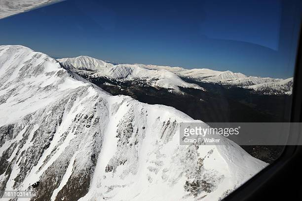 Hoosier Ridge and Tenmile Range viewed from the north looking south during a flyover of the proposed Hidden Gems Wilderness Areas in Eagle and Summit...