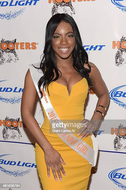 Hooters Calendar girl Alicia Williams attends Hooters Manhattan VIP Press Party at Hooters Manhattan on January 15 2015 in New York City