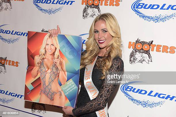 Hooters Calendar girl Emily Phelps attends Hooters Manhattan VIP Press Party at Hooters Manhattan on January 15 2015 in New York City
