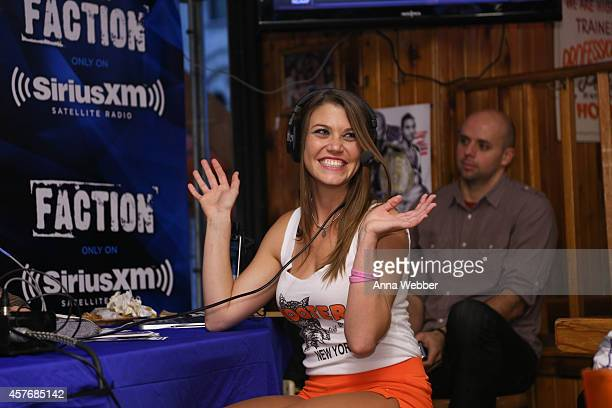 Hooters Girl Megan Hill attends SiriusXM's The Jason Ellis Show Live From Hooters In New York at Hooters on October 22, 2014 in New York City.