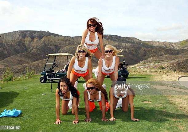 Hooters Girls during Skylar Neil Memorial Golf Tournament Hosted by Vince Neil at Los Canyons Golf Club in Simi Valley California United States