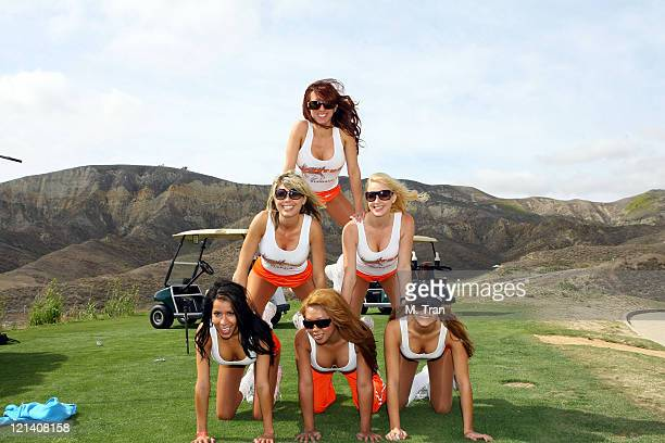 Hooters Girls during Skylar Neil Memorial Golf Tournament Hosted by Vince Neil at Los Canyons Golf Club in Simi Valley, California, United States.
