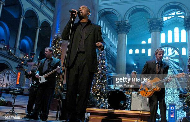 Hootie The Blowfish during TNT's Christmas in Washington Concert Rehearsals Day Two at The National Building Museum in Washington DC United States