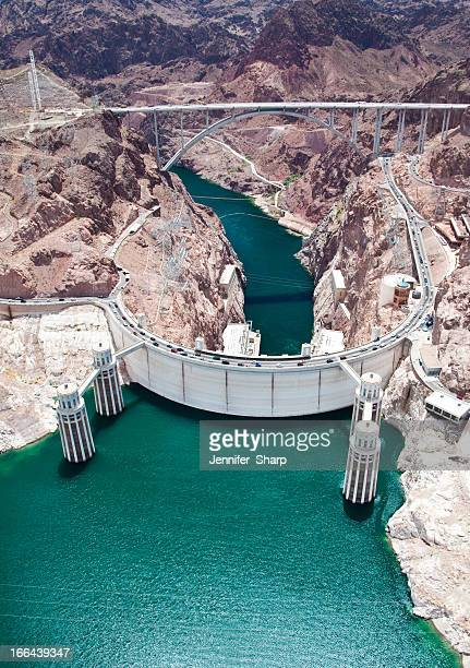 hoover dam.  arizona/ nevada - hoover dam stock photos and pictures