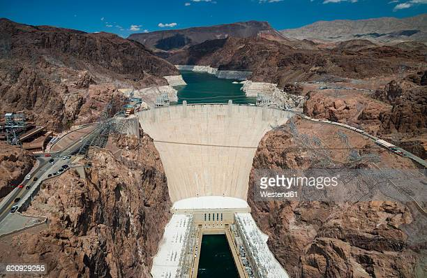 USA, Hoover Dam between Nevada and Arizona