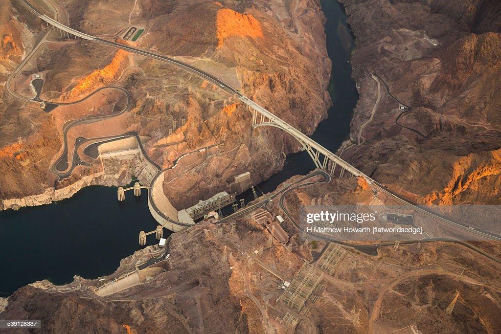 Hoover Dam Bypass Bridge : Stock Photo