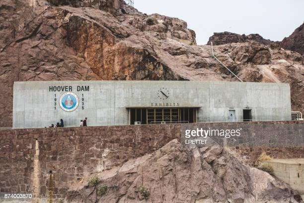 hoover dam exhibits building - boulder city stock photos and pictures