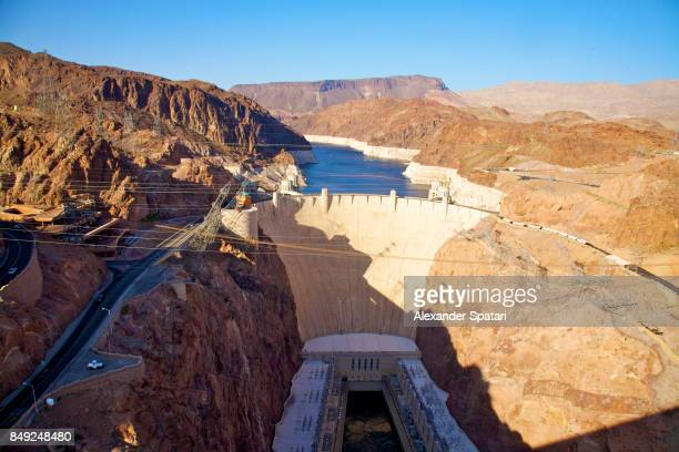hoover dam near page, arizona, usa - hoover dam stock photos and pictures