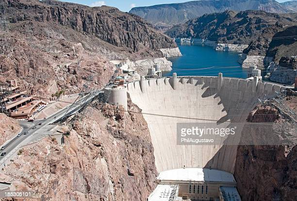 Hoover Dam on Colorado River at Nevada-Arizona stateline
