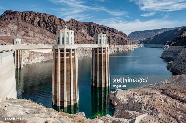 hoover dam scenery in the american west - nevada stock pictures, royalty-free photos & images