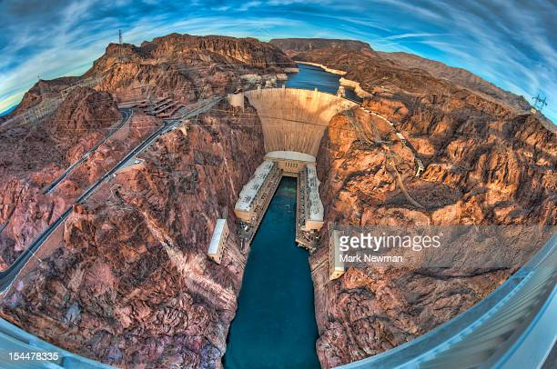Hoover Dam, wide angle photo