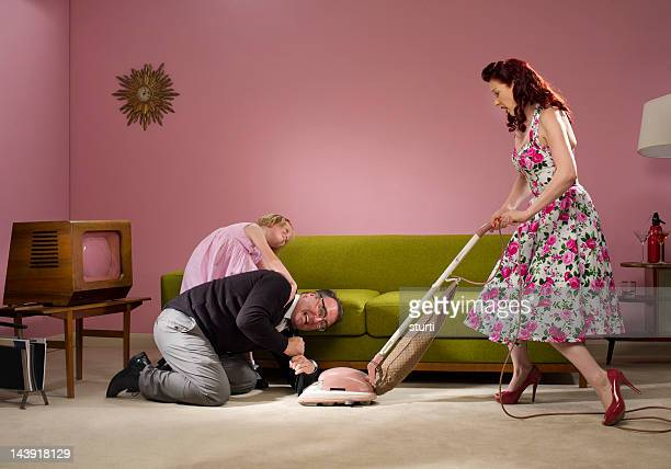 hoover mishap - tv housewife stock photos and pictures