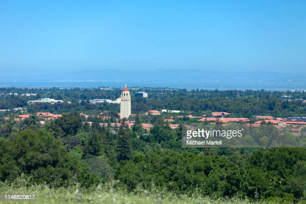 hoover tower, stanford university 3 - palo alto and 街 ストックフォトと画像