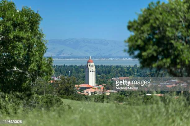 hoover tower, stanford university 5 - palo alto and 街 ストックフォトと画像