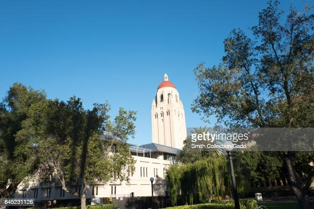 Hoover tower viewed from across a quad at Stanford University in the Silicon Valley town of Stanford California November 13 2016