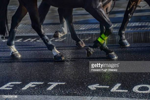 hooves of the metropolitan mounted police force - howard pugh stock pictures, royalty-free photos & images
