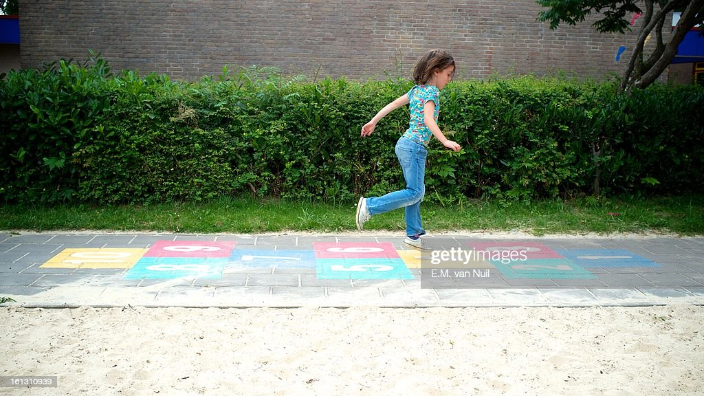 Hop on the playground : Stockfoto