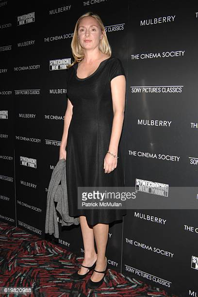 Hope Davis attends THE CINEMA SOCIETY and MULBERRY host a screening of SYNECDOCHE NEW YORK at AMC Loews 19th Street East on October 15 2008 in New...