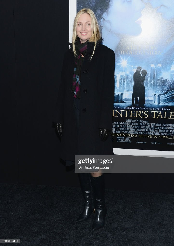 Hope Davis attends the 'Winter's Tale' world premiere at Ziegfeld Theater on February 11, 2014 in New York City.