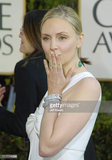 Hope Davis during The 61st Annual Golden Globe Awards Arrivals at The Beverly Hilton Hotel in Beverly Hills California United States