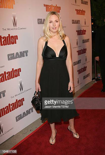 Hope Davis during The Weinstein Company's The Matador Los Angeles Premiere Arrivals at Westwood Crest Theater in Westwood California United States