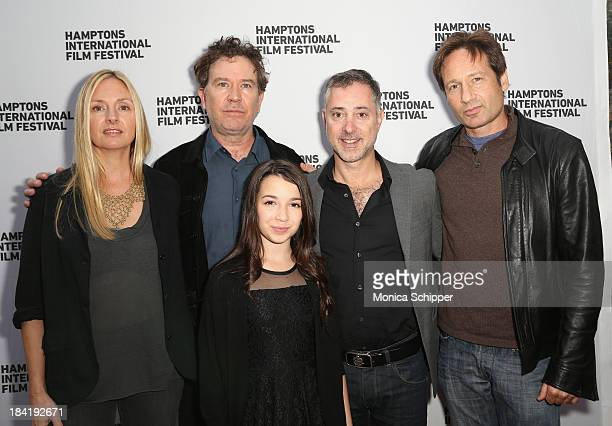 Hope Davis Timothy Hutton Olivia Steele Falconer Anthony Fabian and David Duchovny attend the 21st Annual Hamptons International Film Festival on...