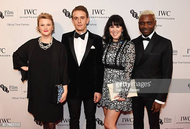 Hope DicksonLeach Paul Anton Smith Alice Lowe and Joseph Adesunloye attend the IWC Schaffhausen Dinner in Honour of the BFI at Rosewood London on...