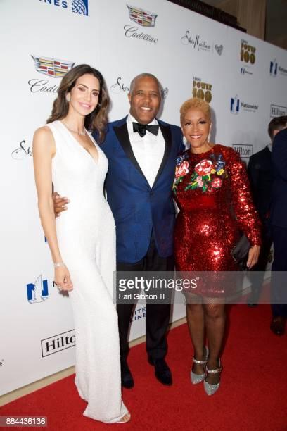 Hope Dworaczk Robert Smith and Linda Johnson Rice attend Ebony Magazine's Ebony Power 100 Gala at The Beverly Hilton Hotel on December 1 2017 in...