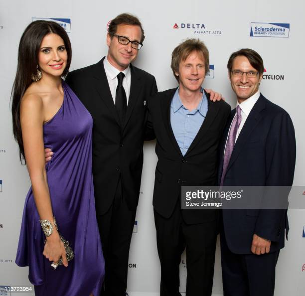 Hope Dworaczyk Bob Saget Dana Carvey and Luke Evnin pose at the Cool Comedy Hot Cuisine Benefit For The Scleroderma Research Foundation at Palace...