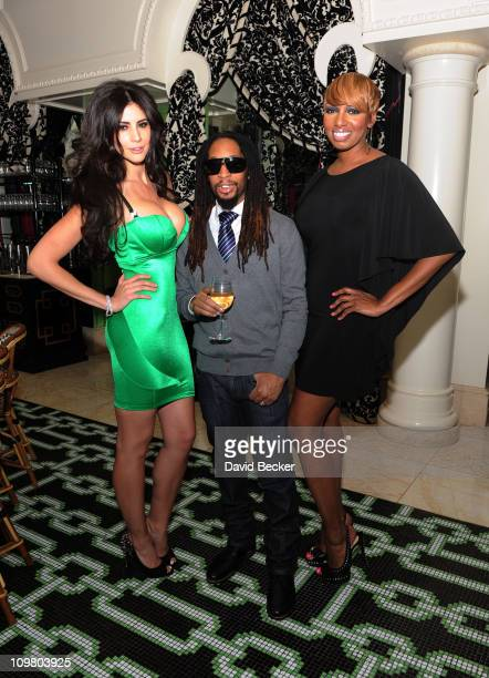 Hope Dworaczyk Lil' Jon and NeNe Leakes attend the celebration of the season premiere of 'The Celebrity Apprentice' at Society Cafe at Encore Las...