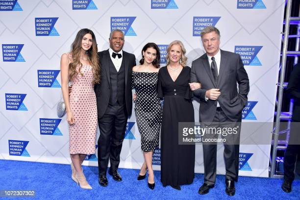 Hope Dworaczyk Robert F Smith Hilaria Baldwin Kerry Kennedy and Alec Baldwin attend the 2019 Robert F Kennedy Human Rights Ripple Of Hope Awards on...