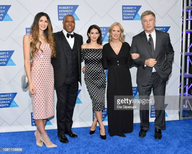 Hope Dworaczyk Robert F Smith Hilaria Baldwin Kerry Kennedy and Alec Baldwin attend the 2018 Robert F Kennedy Human Rights' Ripple Of Hope Awards at...