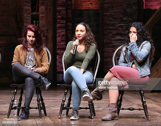 Hope Easterbrook Jasmine Cephas Jones and Stephanie Klemons grreet thirteen hundred students from New York City public schools gathered for a...