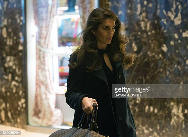 Hope Hicks arrives at Trump Tower for meetings with Presidentelect Donald Trump on December 16 2016 in New York / AFP / Bryan R Smith