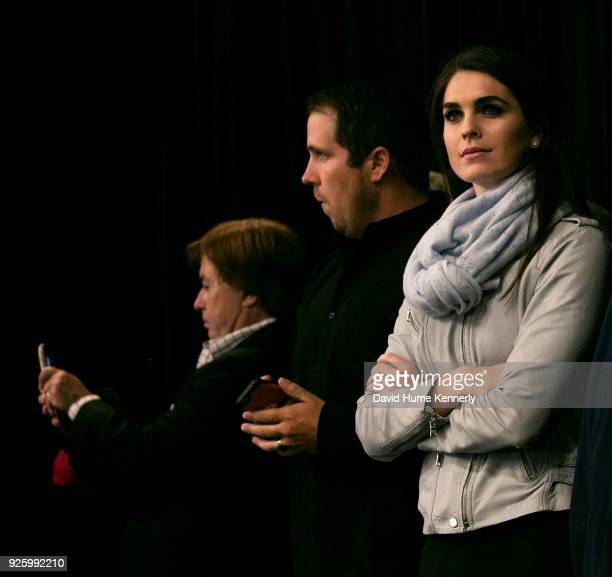 Hope Hicks attends a campaign rally for Donald Trump at the Freedom Hill Amphitheater Sterling Heights Michigan November 6 2016