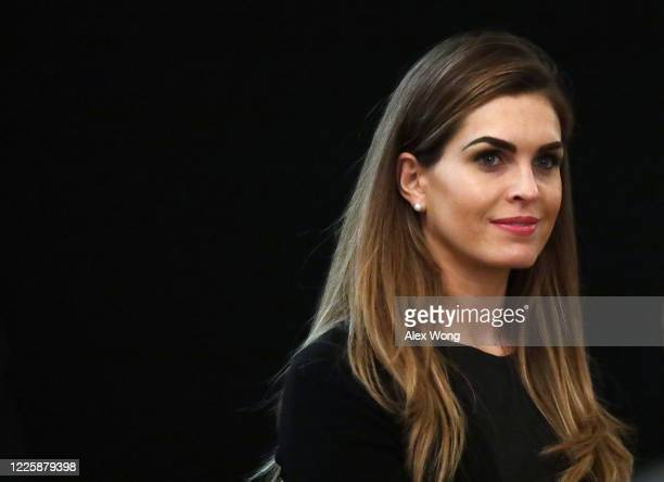 Hope Hicks, Counselor to President Donald Trump, listens during a cabinet meeting in the East Room of the White House on May 19, 2020 in Washington,...