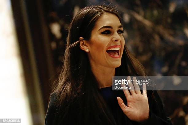 Hope Hicks incoming White House Director of Strategic Communications walks through the lobby of Trump Tower in New York US on Monday Jan 2 2017...