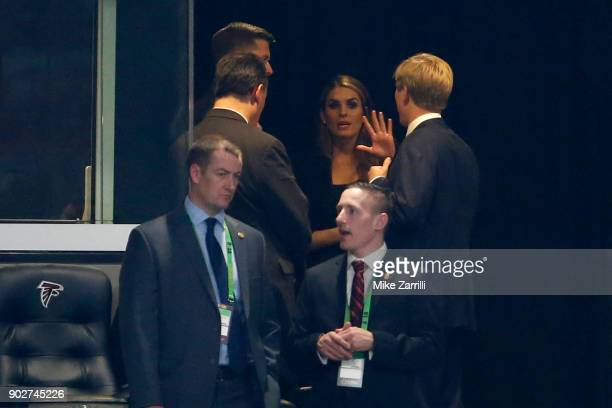 Hope Hicks the White House Communications Director in the stands during the game between the Georgia Bulldogs and the Alabama Crimson Tide in the CFP...