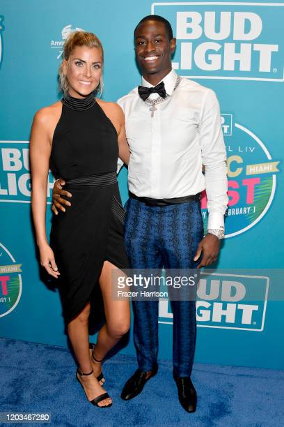 Hope Hodgson and Pierre Desir attend Bud Light Super Bowl Music Fest on February 01, 2020 in Miami, Florida.