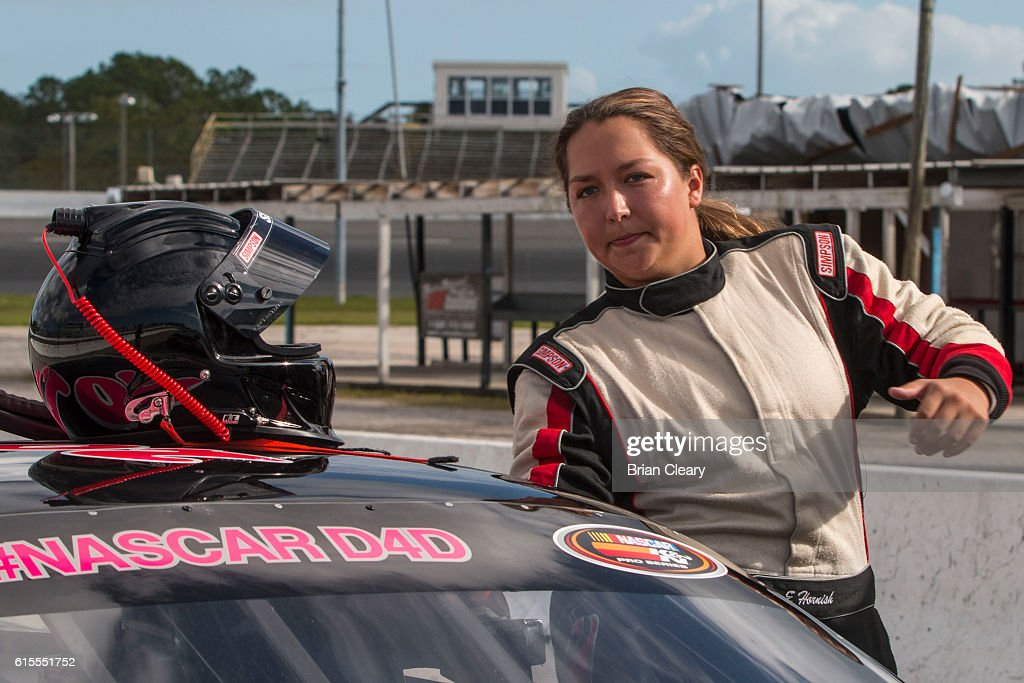 Hope Hornish at the NASCAR Drive for Diversity Developmental Program at New Smyrna Speedway on October 18, 2016 in New Smyrna Beach, Florida.