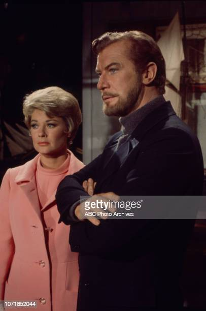 Hope Lange, Edward Mulhare appearing on the Walt Disney Television via Getty Images's 'The Ghost & Mrs Muir' episode 'Tourist, Go Home'.