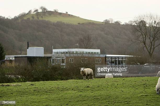 Hope Minsterley Primary School one of 22 threatened with closure sits nestled amongst the Shropshire Hills on January 31 2008 near Shrewsbury England...