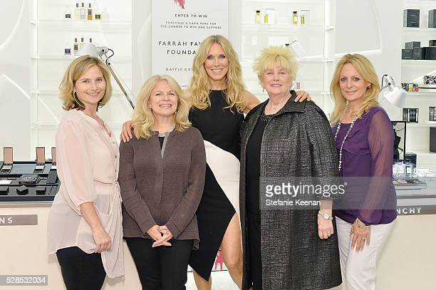 Hope Mulbarger, Marleen Garlin, Host Alana Stewart, Mary Willard and Christine Romeo attend Barneys New York Hosts A Cocktail Party In Support Of The...