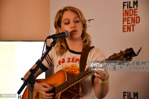 Hope performs onstage at Acoustic Night during the 2017 Los Angeles Film Festival at the Festival Lounge on June 21 2017 in Culver City California