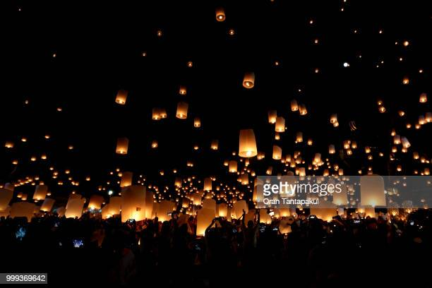hope - loi krathong stock photos and pictures