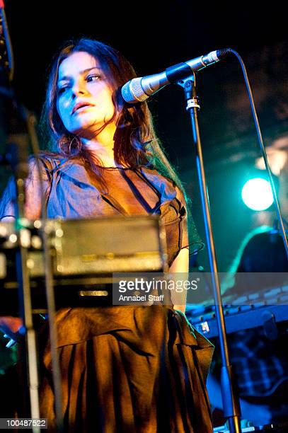 Hope Sandoval of Hope Sandoval And The Warm Intentions performs on stage at Bush Hall on May 24 2010 in London England