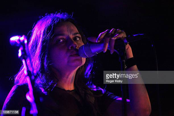 Hope Sandoval of Hope Sandoval and The Warm Inventions performs onstage at All Tomorrow's Parties New York Festival 2010 Day 3 at Kutshers Country...