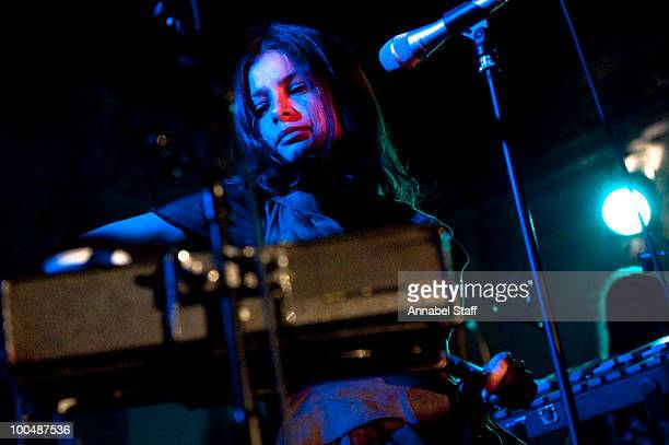 Hope Sandoval of Hope Sandoval And The Warm Inventions performs on stage at Bush Hall on May 24 2010 in London England