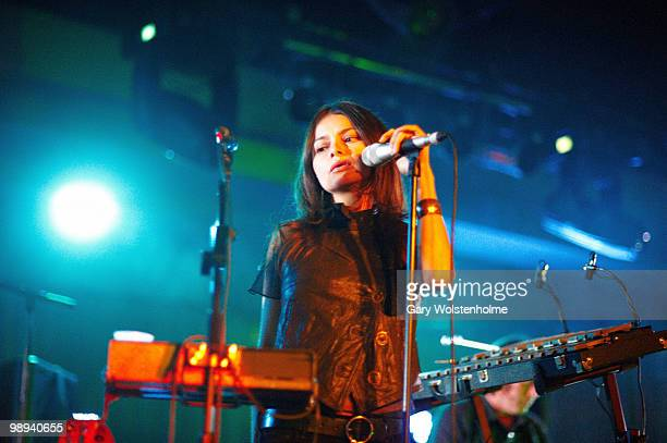 Hope Sandoval of Hope Sandoval and The Warm Inventions performs on stage during day three of All Tomorrow's Parties Festival at Butlins Holiday...